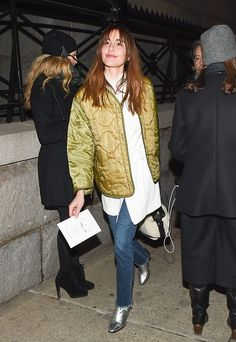Ece Sukan is seen outside the Marc Jacobs show during New York Fashion Week Women's Fall/Winter 2016 on February 18 2016 in New York City