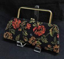 26e703eb1ceb Vintage Long Floral Tapestry Convertible Clutch Purse Vintage Handbags