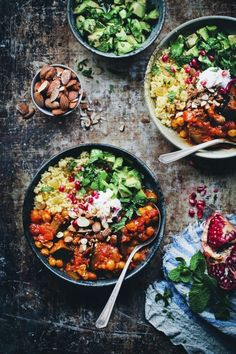 Vegetarian Moroccan Aubergine and Chickpea Stew | 7 Awesome Buddha Bowls You Should Try This Week