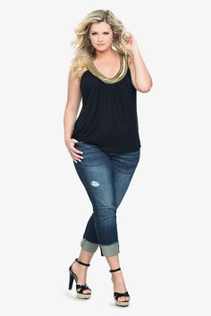 The clothing market has a high requirement for trendy plus size clothing. Markets are available with numerous fashions for all events that present women with a generous figure trendy plus size style for every event.