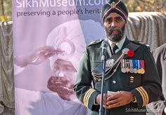 Lt.-Col. Harjit Singh Sajjan, Commanding Officer British Columbia Regiment (Duke of Connaught's Own) at the 2011 Sikh Remembrance Day Ceremony sponsored by SikhMuseum.com