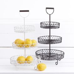 Mayotte 3 Tier Stand Brown - This timber handled stand is great for displaying seasonal fruit and vegetables.