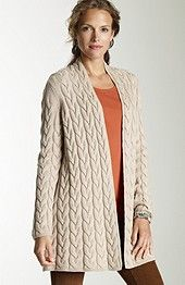 spoon-cable cardigan