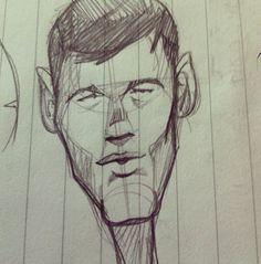 #sketch #draw #pen #face #man #illustration