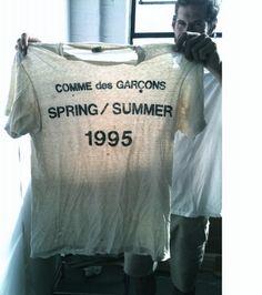 Comme des Garcons T-shirt Comme Des Garçons Shirt, Rei Kawakubo, Comme Des Garcons, Vintage Tees, Slogan, Personal Style, Graphic Tees, T Shirt, Menswear