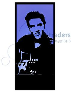 Elvis Silhouette Panel   Reference: LIGH238   Material: Wood, Acrylic   Quantity: 1   Height: 2.4m   Width: 1.1m   Depth: 0.51m (with light box)   Weight: 38kg   Info: