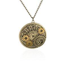 Steampunk Gears Necklace