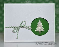 Sequin tree, with video tutorial. #christmas #card