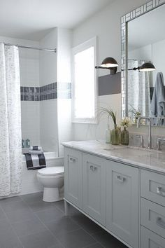 sarah richardson sarah house 4 boy bathroom grey stripe wall