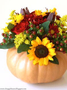 Pumpkin Flower Centerpiece Tutorial