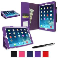 rooCASE - Dual Station Folio Case Cover for Apple iPad Air - Purple