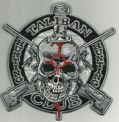 TALIBAN HUNTING CLUB military morale biker patch by usMILITARYPATCHcom on Etsy
