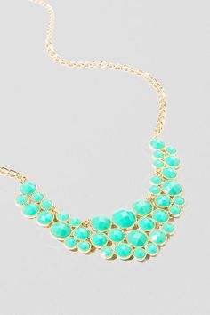 Belize Statement Necklace in Mint