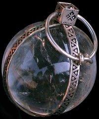 Anglo Saxon Crystal ball pendant.
