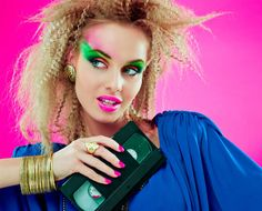 80s, makeup, hairstyling