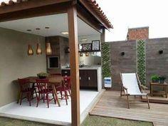 Rooftop Patio, Backyard Patio, Outdoor Kitchen Design, Patio Design, Outdoor Kitchens, Design Jardin, Diy Garden Decor, Home Interior, Modern House Design