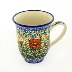 "This U-4 ""Unikat"" mug designed and painted by Jolanta Okraska is a stunning work…"