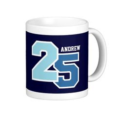 Shop Birthday AQUA and TEAL Coffee Mug created by JaclinArt.