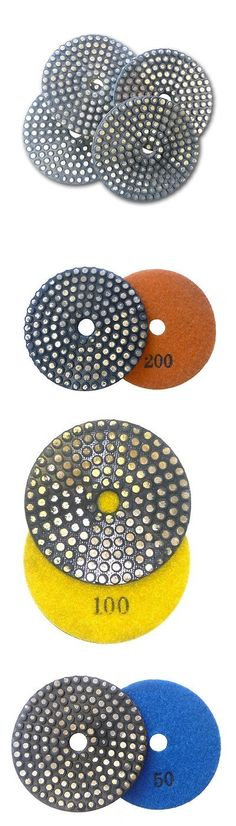Grinding Wheels and Accessories 79703: 4 Metal Bond Vitrified Diamond Polishing Grinding Pad Set -> BUY IT NOW ONLY: $123 on eBay!