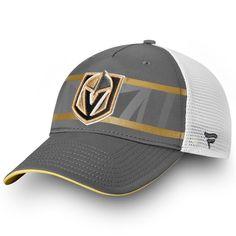 9f83873e1b5 Men s Vegas Golden Knights Fanatics Branded Gray White Authentic Pro Second  Season Trucker Adjustable Hat