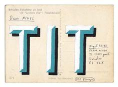 Snapshot: Nigel Payne postcard