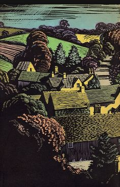 "Woodblock Print ""The Legacy Of England"" 1935"
