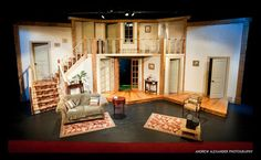 noises off images small theater | Antaeus Workshops Noises Off SET