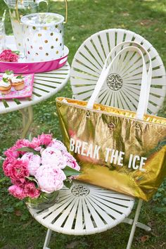 kate spade new york Break the Ice Gold Cooler Bag