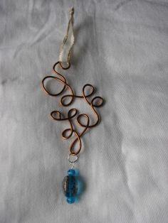 Copper ornament or suncatcher by KatKeRosCorner on Etsy