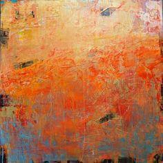 Heart's Desire, plaster / paint / glaze on canvas by Debra Corbett at a Scottsdale art gallery