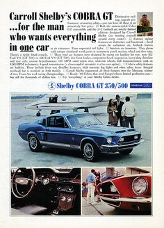 1968 Shelby Cobra GT 350/500 Ford Mustang