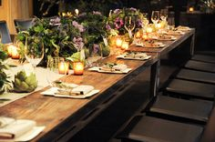 Votives at each place setting. While We Were Out: Blue Hill at Stone Barns - News from the Lonny Team - Lonny