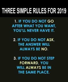 Three simple rules in life quotes of the day - Trend Lightworker Quotes 2019 Happy New Year Ecards, Happy New Year Quotes, Quotes About New Year, Motivational Quotes For Men, All Quotes, Quotes To Live By, Inspirational Quotes, Style Quotes, Media Quotes