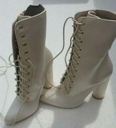 Womens High Heel Ivory Satin Pointed Toe Lace Up Calf Boots UK 4 Sergio Todzi #SergioTodzi #HighHeels Calf Boots, Combat Boots, Womens High Heels, Ivory, Lace Up, Satin, Toe, Wedges, Stuff To Buy
