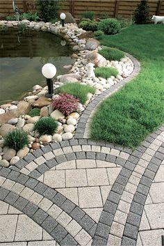 46 magical garden design is best for your inspiration 00045 Backyard Patio Designs, Small Backyard Landscaping, Gravel Landscaping, Garden Paving, Garden Paths, Landscape Design, Garden Design, Garden Cottage, Outdoor Gardens