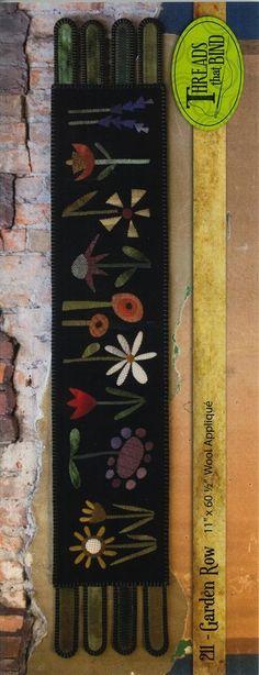Threads That Bind  GARDEN ROW #211 Wool Applique Pattern #ThreadsThatBind