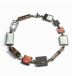 hako necklace #1. Steel bracelet, contemporary jewelry, art jewelry #ContemporaryJewelry