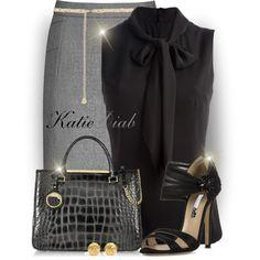 """""""Grey&Black"""" by katiediab on Polyvore"""