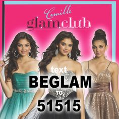 Text BEGLAM to 51515 to join our Camille Glam Club for insider news on our sales, shopping perks and first looks! And a chance to win an Apple iPad!