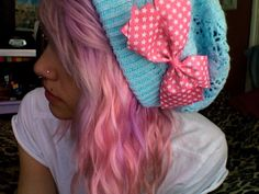 #pink #dyed #scene #hair #pretty