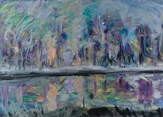 Tomáš Bambušek  |Jezírko, jak se maluje voda?, 195x140cm, olej na plátně 2013. Mažice, Borkovická blata#madeinBUBEC