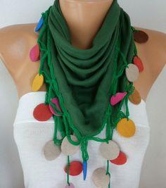 Kelly Green Pashmina Scarf Christmas Gift #bohemian  #blackfriday #scarf #accessories #fashion