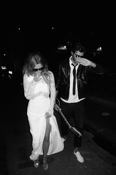 rock n roll wedding....hiding from the paps!