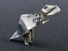 Tyrannosaurus Rex Money Origami - Made with $100 bill