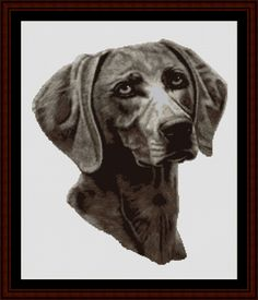Weimaraner - Cross Stitch Collectibles fine art counted cross stitch pattern