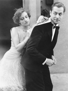 A young Joan Crawford and Robert Montgomery on the MGM Backlot, 1929