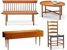 Shakers Furniture  Very Simple. Straight Legs