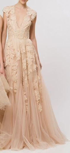 I love this dress........ Stunning Zsa Zsa Bellagio nude dress