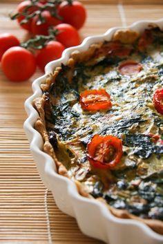 Quiche: egy újabb francia különlegesség, gluténmentesen Diet Recipes, Healthy Recipes, Gluten Free Diet, Pie Dish, Quiche, Paleo, Oatmeal, Dishes, Breakfast