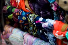 A rack of scarves at Friends' Place, located on the first floor of the Yawkey Center for #Cancer Care.